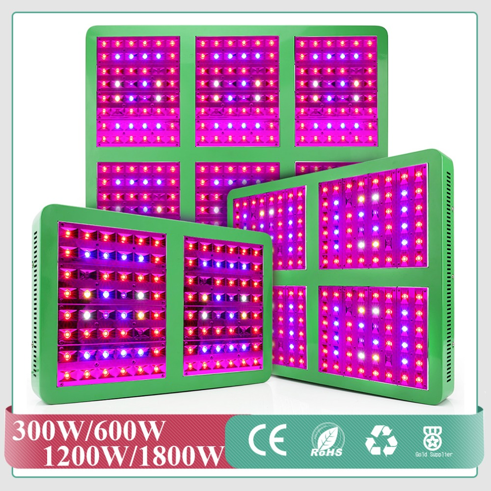 LED Grow Light with Growth Flower Switches 300W/600W/1200W/1800W Led Grow Light Full Spectrum for Indoor Garden Greenhouse best full spectrum 300w led cultivate light for hydroponics greenhouse grow tent led lamp suitable for all plant growth 85v 265v