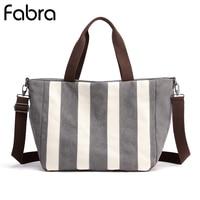 New Summer Canvas Women Handbags Large Capacity Casual Stripe Shoulder Bags Designer Female Messenger Crossbody Bag Bolsas