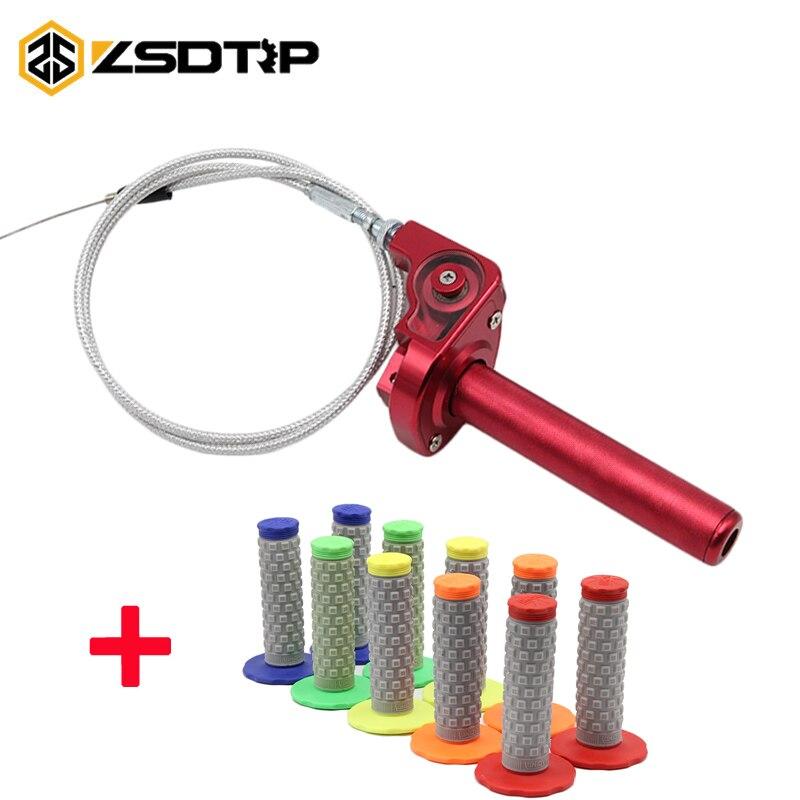CNC Aluminum Throttle Grip Quick Twister + Throttle Cable CRF50 70 110 IRBIS 125 250 Dirt Bike Motorcycle