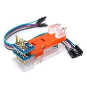 Image 2 - Lập trình viên Mô Đun Công Cụ Test PCB Kiểm Tra Đèn 1*6 P Vàng Đầu Đo Sử Dụng để thử nghiệm mô đun, ban Tải Lên mã cho Arduino Pro Mini