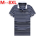 8XL 6XL 4XL 5XL Fashion Polo Homme High Quality Brand Men Polo Shirt New Summer Striped Cotton Men's Solid Ralp Camisa Plus Size
