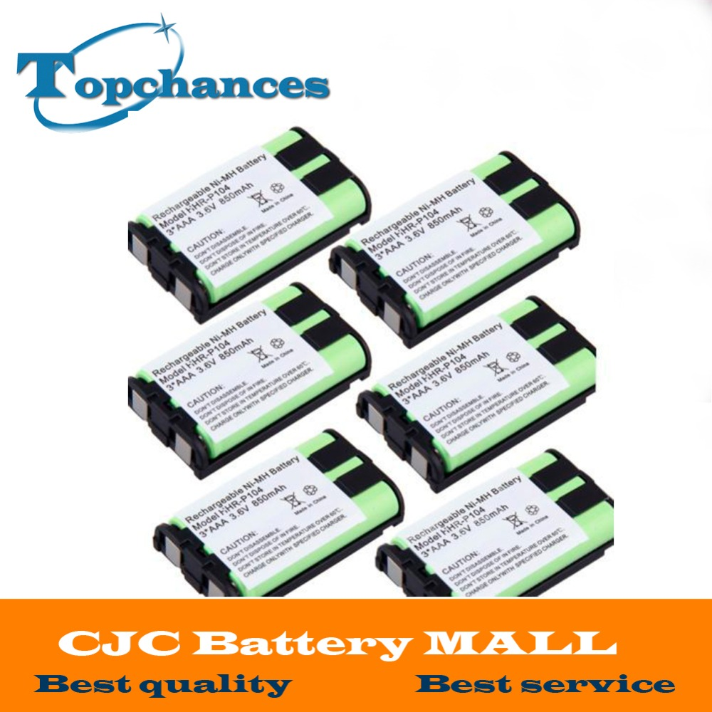 Dedicated 6pcs Cordless Phone Battery 850mah Ni-mh For Panasonic Hhr-p104 Hhr-p104a/1b Type 29 Batteries
