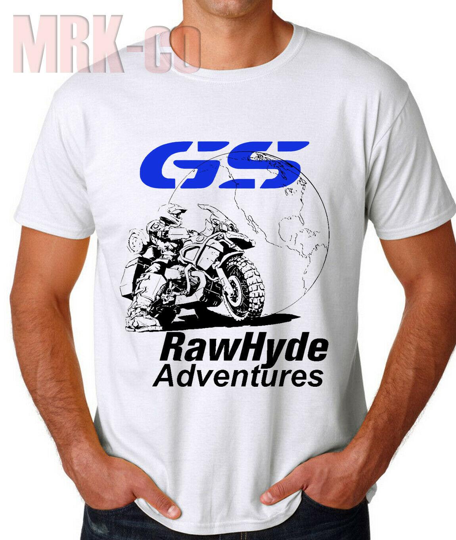 2019 Funny New R1200 Gs T-Shirt Adventure Tshirt Black White Shirt Tees