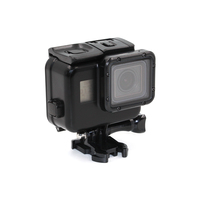 TELESIN Cool Black Waterproof Case Shell 45M Underwater Housing Bacpac Touched LCD Screen Backdoor Cover For