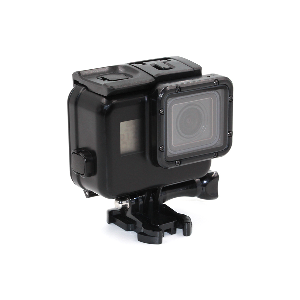 TELESIN Cool Black Waterproof Case Shell 45M Underwater Housing + Bacpac Touched LCD Screen Backdoor Cover for GoPro Hero 6 5