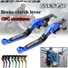 цены New CNC brake lever for SUZUKI GSX-S750 GSX S750 GSX-S 750 GSXS750 2011-2018 folding telescopic brake clutch handle 16 colors
