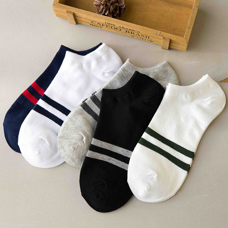 Classic Men's Socks Summer Deodorant Low To Help Sweat Short Sports Socks Tide Four Seasons Two Rod Boat Socks