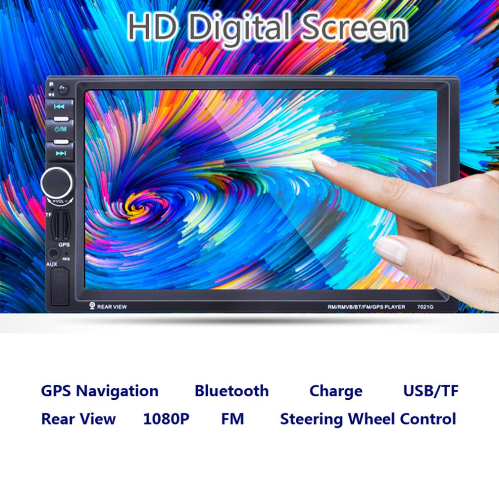 7 Inch Android 6.0 HD Touch Screen Car MP4/MP5 Player With GPS Navigation Handsfree Bluetooth FM Radio Tuner AUX Audio Input