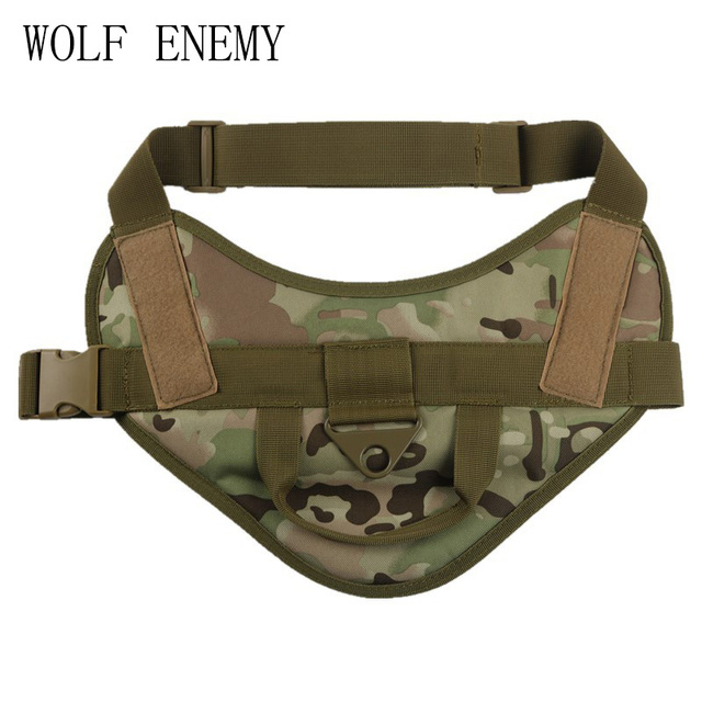 Military Tactical Dog Training Vest Molle Compact Vest Harness Dog Clothes Load  Bearing Harness SWAT Dog Pet Jacket 289b623eda5