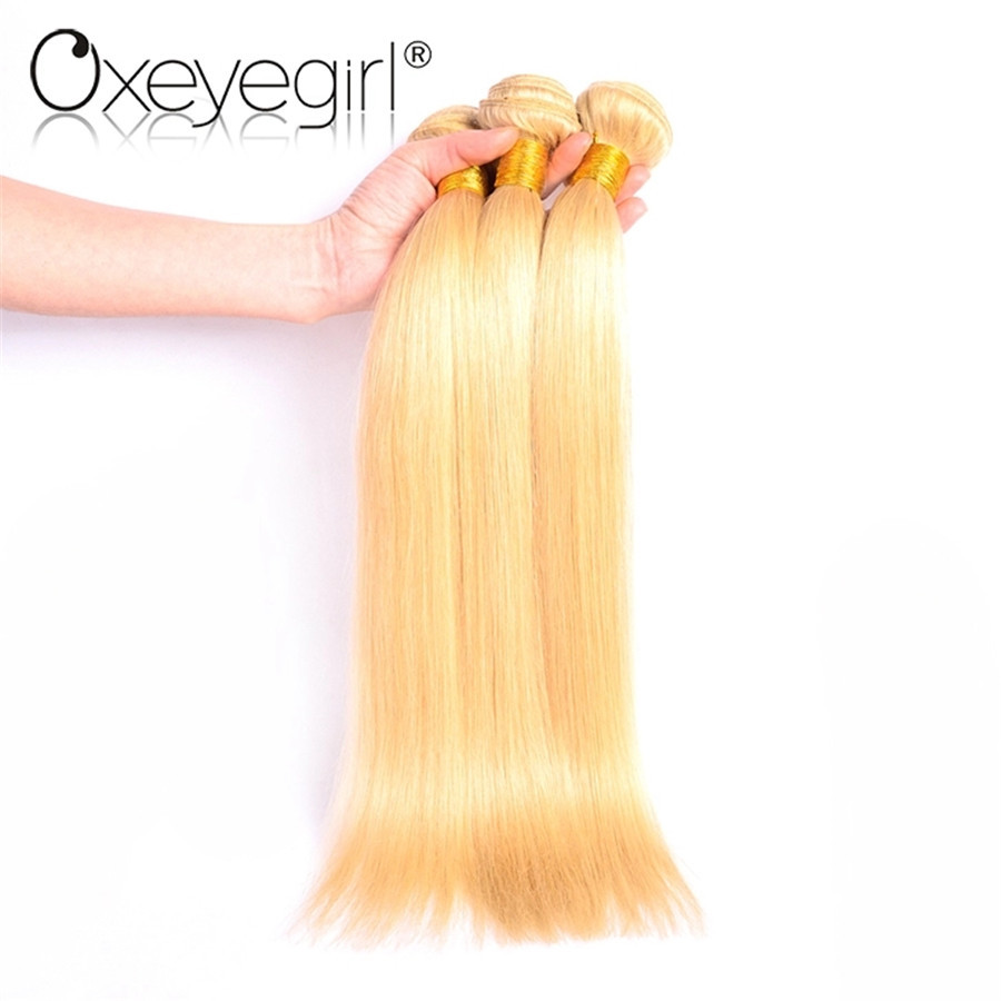 Oxeyegirl 613 Honey Blonde Bundles Brazilian Hair Weave Bundles Straight Hair Bundles 3  ...