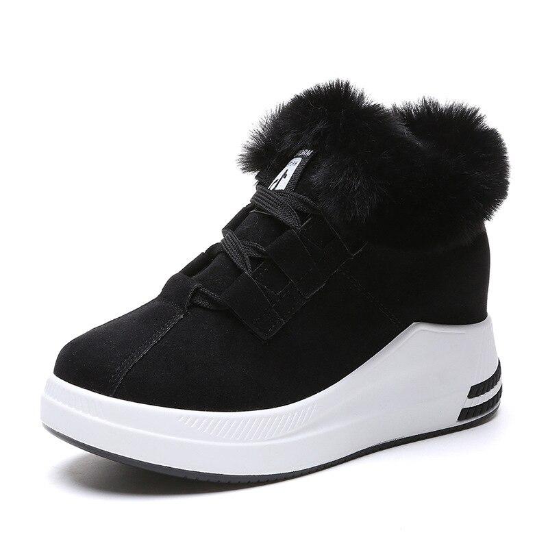 E Negro Deporte Otoño Además 2018 De Invierno rojo Las Estudiante Salvaje Terciopelo Cuñas Zapatillas Zapatos Mujeres Casuales Nuevo Algodón gris tY0wqY