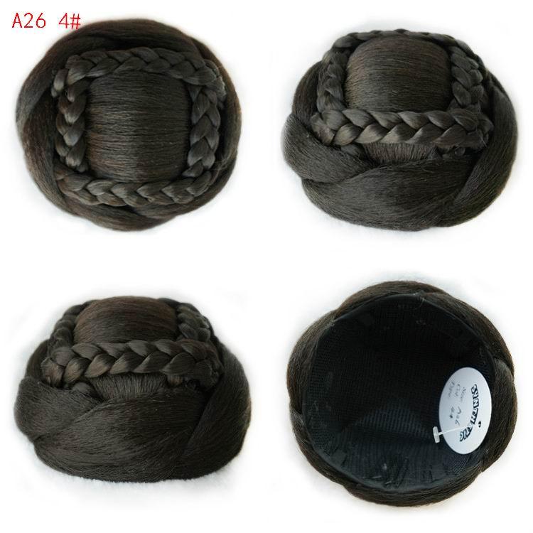 9CM Fashion Women Chignons Lady Chignons Buns Hairpieces Synthetic Bun Hairpiece Heat Resistant Knot Bob A26