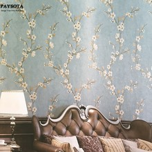 PAYSOTA Chinese Vintage Style Flowers Wallpaper Bedroom Living Room TV Background Wall PaperRoll