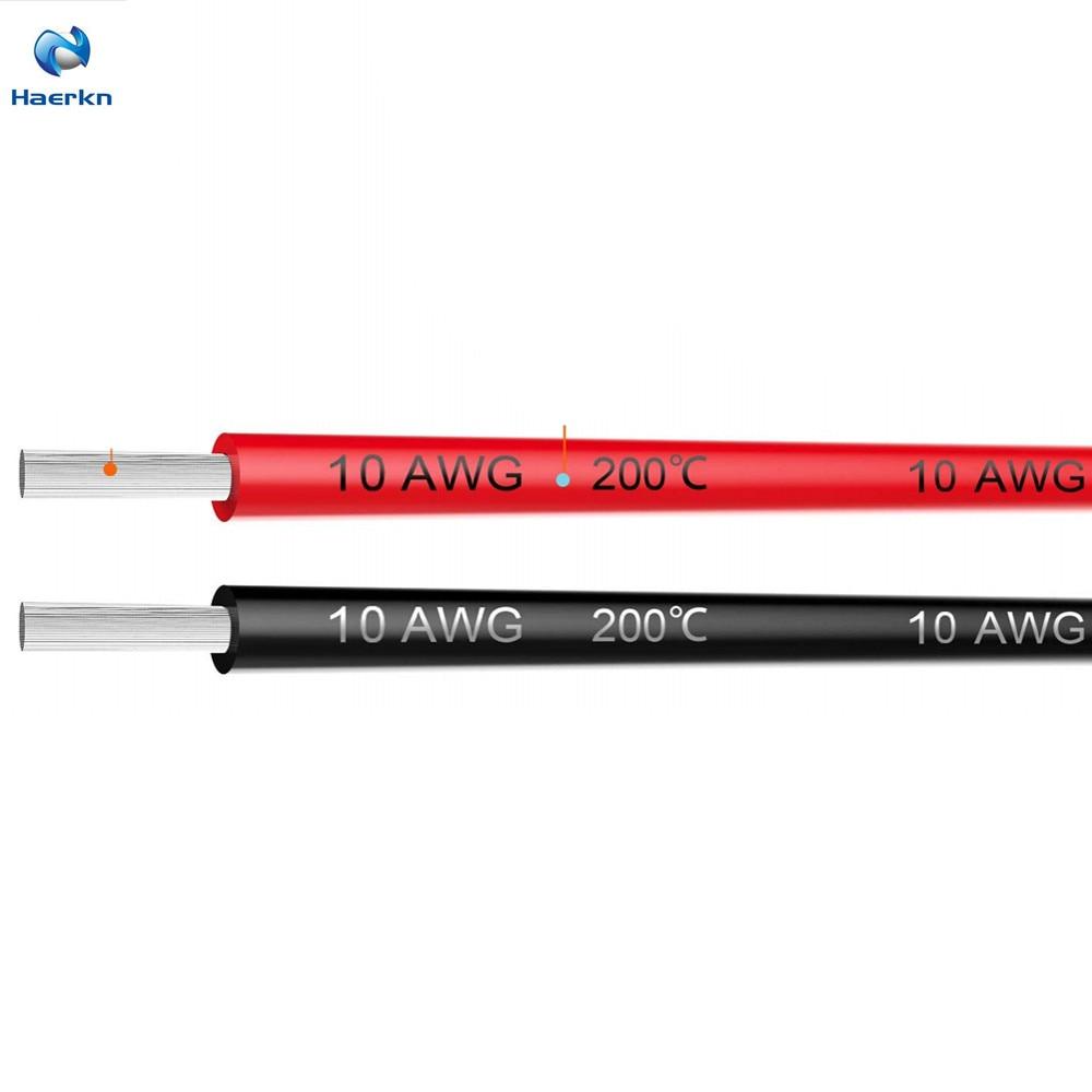 10 Awg Elektrische Draht Kabel 10 Füße Weiche Und Flexible Verzinnten Kupfer Draht Hohe Temperatur Widerstand Lange Lebensdauer 5ft Schwarz Und 5 Ft Rot