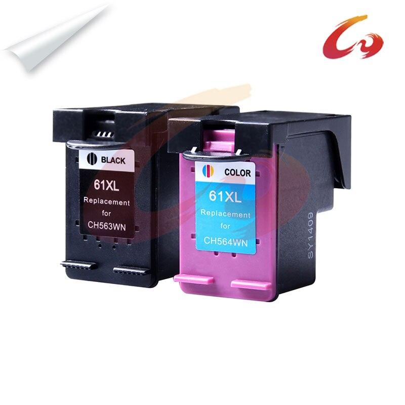 1 set for HP 61XL Remanufactured Ink Cartridge BK&TRICOLOR for HP Deskjet 1000 1050 1055 2000 2050 2512 3000 J110a J210a J310a 2pk for hp 61xl remanufactured ink cartridge bk