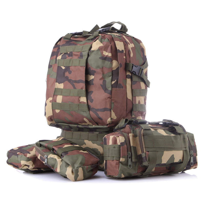 Military Rucksack Tactical Outdoor Backpack 40l Molle Tactical Bag Hiking Camping Camouflage Water Resistant Sport Bags 3l tactical water bottle bag knapsack hydration backpack pouch hiking camping cycling pack canteen water bag molle