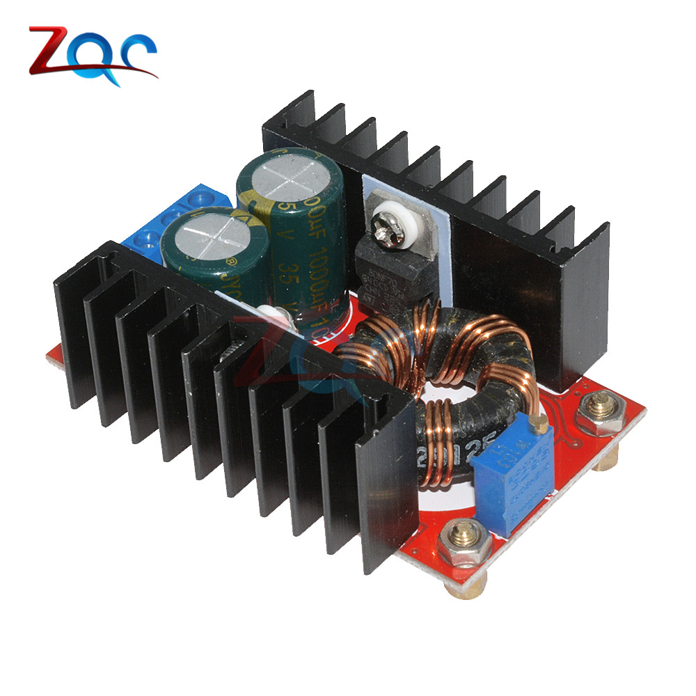 все цены на DC-DC 10-32V to 12-35V Step Up Boost Converter Module Adjustable Static Power Supply Voltage Regulator Step Up Module 150W 5V онлайн