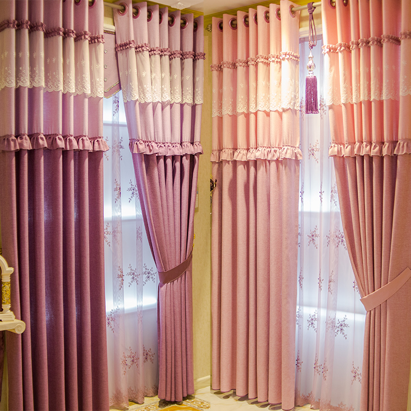 achetez en gros romantique chambre rideaux en ligne des grossistes romantique chambre rideaux. Black Bedroom Furniture Sets. Home Design Ideas