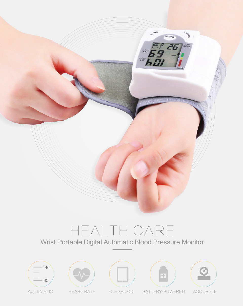 Professional Health Care Wrist Portable Digital Automatic Blood Pressure Monitor Household Type Protect Health2 14