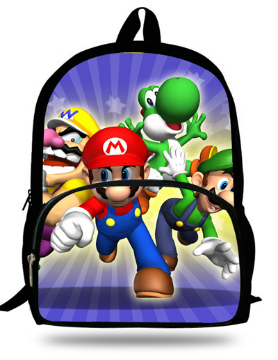 e47a746ba8 16-inch Mochila Super Mario Backpack Kids Boys School Bags Children Girls  Age 7-13 Mario Bag Backpack Child Escolares Infantis