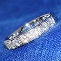 Роскошные 1.5 Карат кт 3 мм Цвет Обручальное Кольцо Свадебная Лаборатории Grown Муассанит Diamond Band Для Женщин Твердые 14 К 585 Белый золото