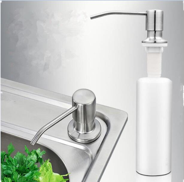 Us 2 88 Kitchen Soap Dispenser Bathroom Detergent Dispenser For Liquid Soap Lotion Stainless Steel Head Abs Bottle In Liquid Soap Dispensers From