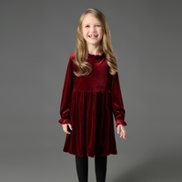 Autumn Winter mother and daughter dress women warm velvet clothes children clothing mom baby girls dress family matching outfits