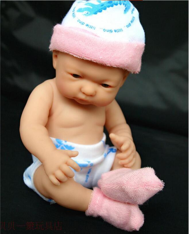 25 CM Baby Reborn Dolls Vinyl  Baby Doll Toys Little Girl Boy Shower Dolls Kid's Playmates Christmas Birthday Gifts