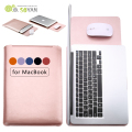 Fashion PU Leather Sleeve Case for Apple Macbook Air Pro Retina 11.6 12 13.3 15.4 Inch Laptop Cases for Mac Book Bag