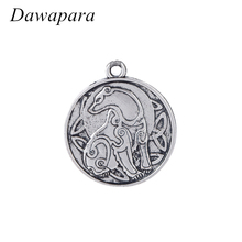 Dawapara Bear Animal Symbol Pendant Necklaces Accessories Antique Silver Ethnic Irish Charms for Coins Metal Tags for Jewelry