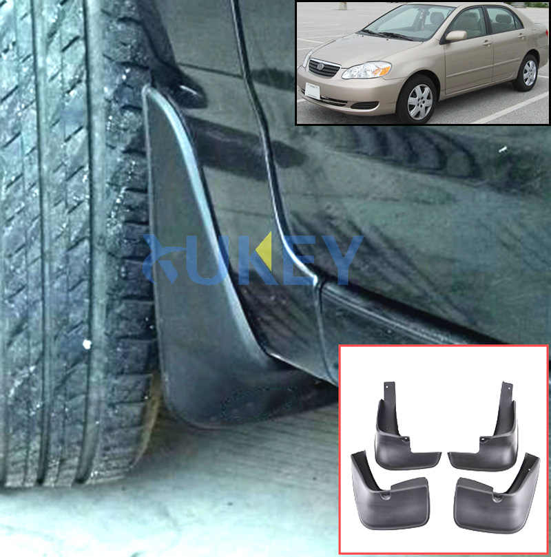 Molded Mud Flaps For Toyota Corolla Altis 2002-2008 Sedan Mudflaps Splash Guards Mud Flap Mudguards 2003 2004 2005 2006 2007