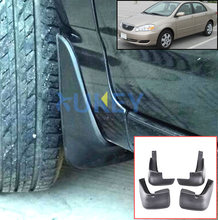Molded Mud Flaps For Toyota Corolla Altis 2002-2008 Sedan Mudflaps Splash Guards Mud Flap Mudguards 2003 2004 2005 2006 2007(China)