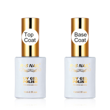 R.S 15ml Top dan Base Coat Gel Nail Polish Manicure Mudah Rendam Off Base Gel Top Coat UV LED Nail Art Transparent Gel Polish