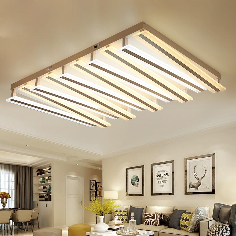 US $380.0 60% OFF|Post modern living room light rectangular simple  atmosphere home bedroom lights creative lobby led ceiling lamp led  lighting-in ...