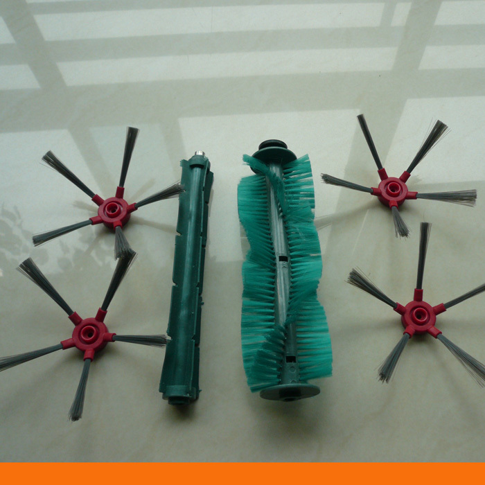 Robot vacuum cleaner SQ-A360 side brush 4pcs+rubber brush 1pc+bristle brush 1pc