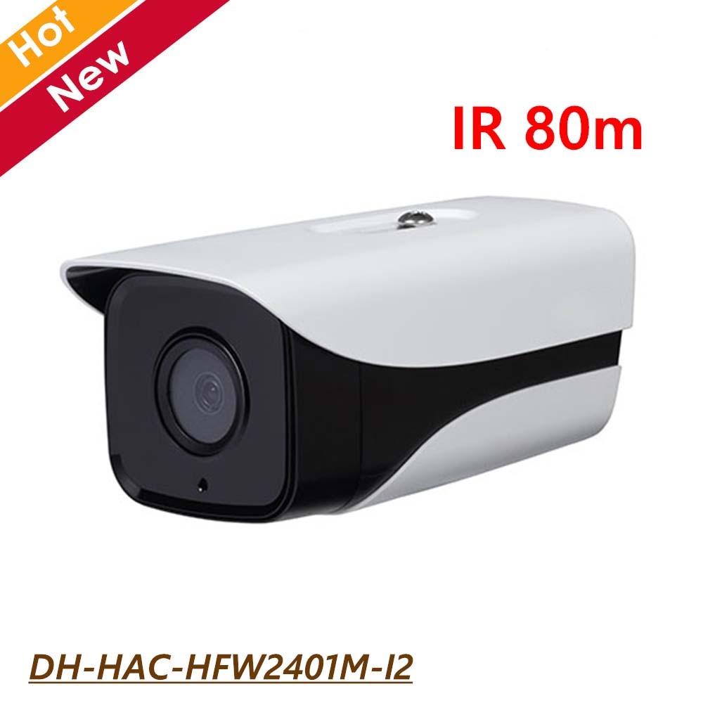 DH 4MP HDCVI Camera Outdoor Camera HAC-HFW2401M-I2 IR 80m 1080p Waterproof IP67 CMOS IR Night vision Survillance Camera цена