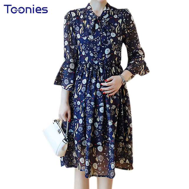 Summer Maternity Dresses Long Chiffon Bohemian Dress Clothes For Pregnant  2018 New Women Lace Maternidade Pregnancy Clothing 9a126a6f90e1