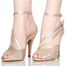 Discount Free Shipping Plus Big Size Women High Heels Satin White Ballroom Latin Dance Shoes