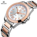 Megir Luxury Brand mujeres del reloj completo oro del acero inoxidable del reloj de hombre Montre Femme moda impermeable de negocios amante de reloj de cuarzo