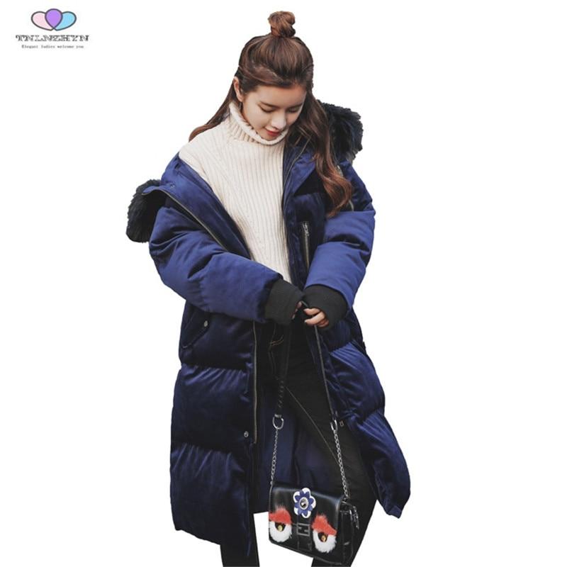 Coton E176 Femelle Femmes Veste D'or Mince Vers Grand Velours D'hiver Épaisse Fourrure Photo Manteau Capuchon 2018 De Tnlnzhyn Col Color À Nouvelle Le Bas Cnq1x5P