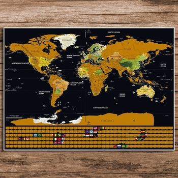 World map scratch off deluxe personalized vintage travel flag world world map scratch off deluxe personalized vintage travel flag world map poster sticker vacation national falg retro maps 82x59cm gumiabroncs Gallery