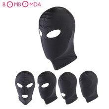 Sex Mask Adult Games  Fetish Slave Headgear BDSM Bondage Restraints  Mask Mouth Eye Open Slave Games Adult Products For Couples все цены