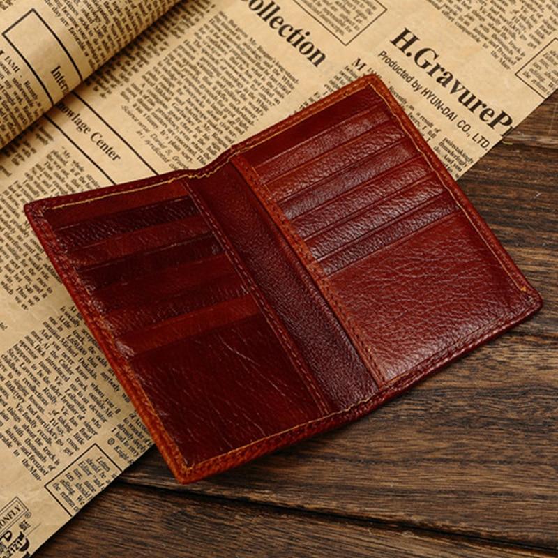 aliexpresscom buy first grade genuine leather credit card holder card wallet for men women vintage premium cowhide license card holder id case from - Leather Credit Card Holder