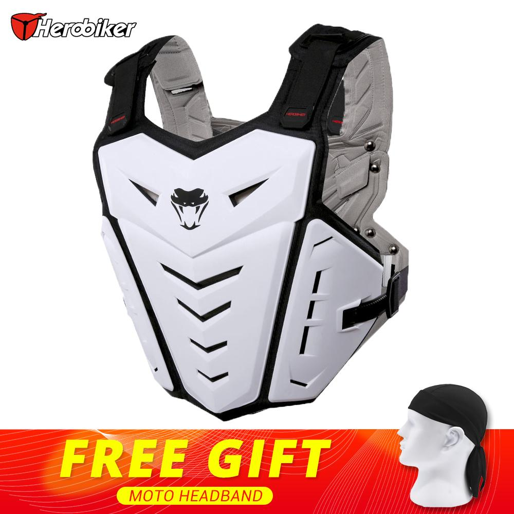 HEROBIKER Motorcycle Jacket Body Armor Motorcycle Motocross Moto Vest Back Chest Protector Off-Road Dirt Bike Protective Gear herobiker armor removable neck protection guards riding skating motorcycle racing protective gear full body armor protectors