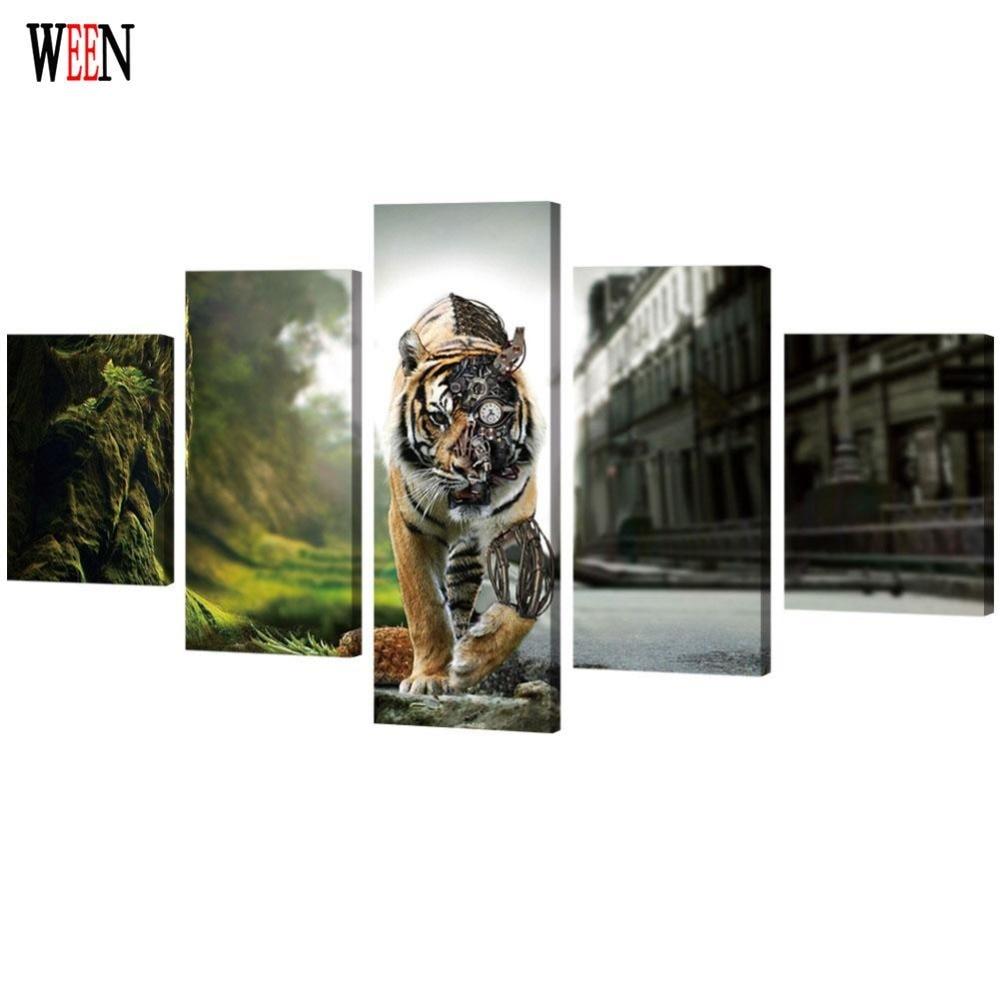 WEEN Gerahmte HD Gedruckt Tiger Poster Direatly Übergeben 5 Stück ...