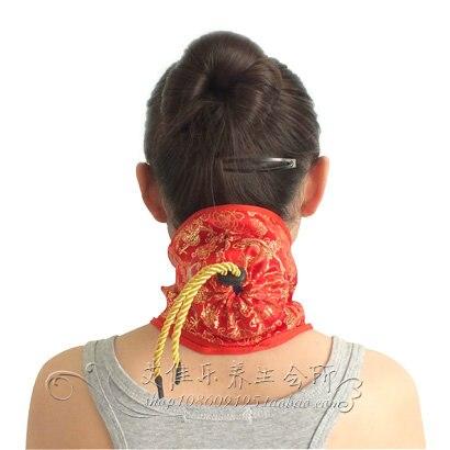 Silks and satins portable single cauterize neck cloth cover bag moxibustion box utensils neck moxa utensils chinese silks