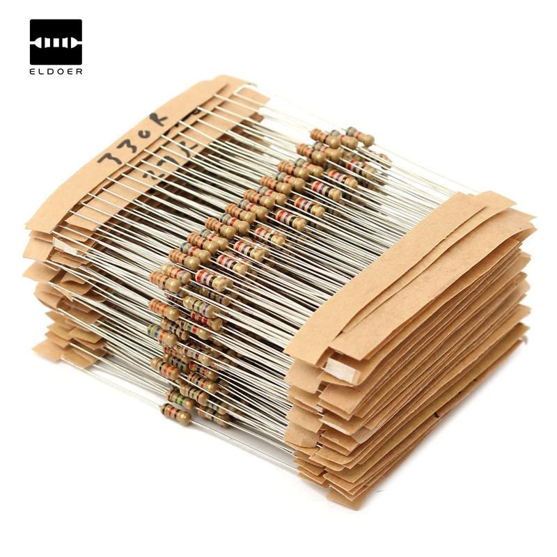 New Aiirval 560pcs 56 Values 1/4W 1% Metal Film Resistors Assorted Kit Set 1 Ohm ~ 10M Ohm 6X2mm Electronic Lovers Resistor