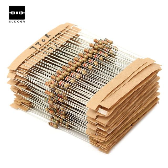 Nouveau Aiirval 560 pcs 56 Valeurs 1/4 W 1% Metal Film Résistances Assorties Kit Ensemble 1 ohm ~ 10 M ohm 6X2mm Électronique amateurs Résistance