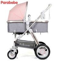 Belecoo детская коляска Удобная коляска и люлька складной Bebe автомобиль высокое сиденье детская коляска Прогулочные коляски