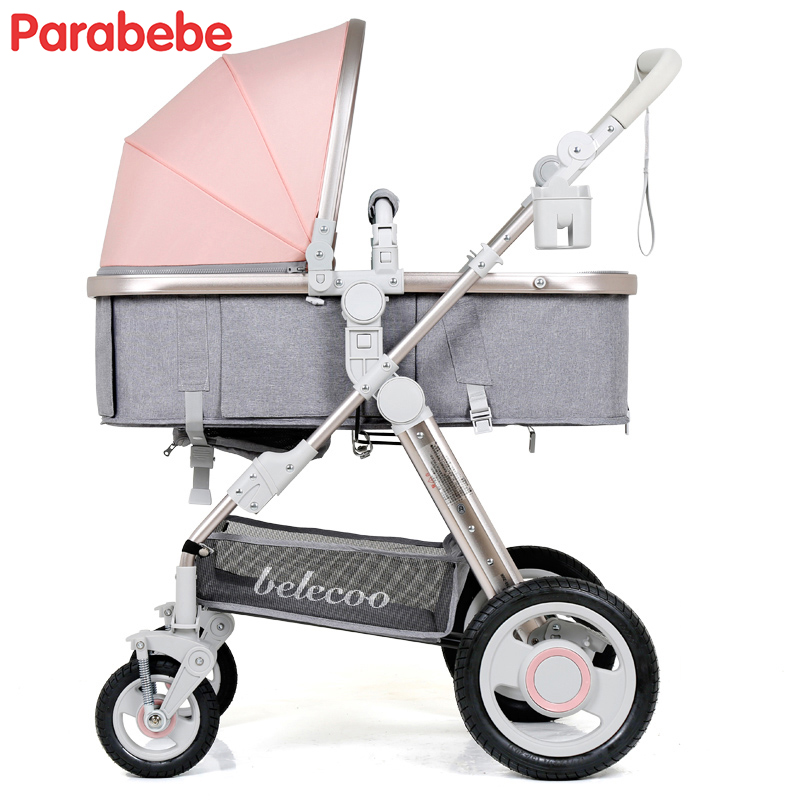 Belecoo Baby Stroller Comfortable The Stroller And Bassinet Folding Bebe Car High Seat Baby Pushchair Walking Strollers Prams